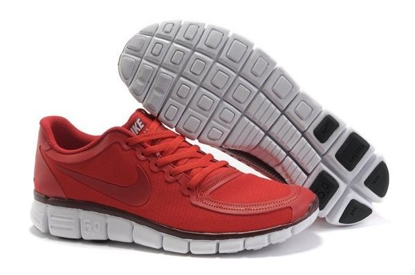Specials Nike Free 5.0 V4 Heren Loopschoenen Gym Rood/Wit