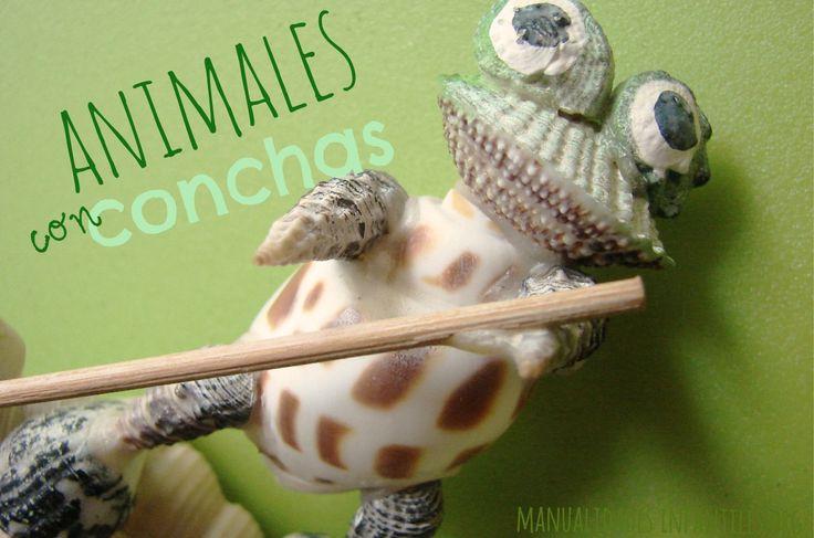Animales con ·Conchasmarinas - en #ManualidadesInfantiles