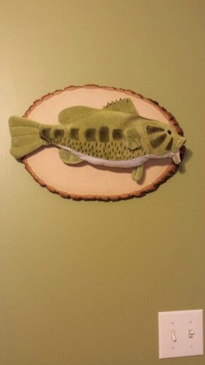 Bass mount. Hunting theme nursery.