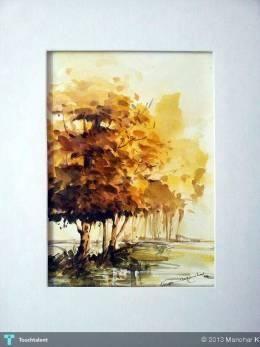 landscape: water color #Creative #Art #Painting @touchtalent.com