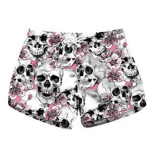 Trendy Fashion Women Skull Beach Shorts