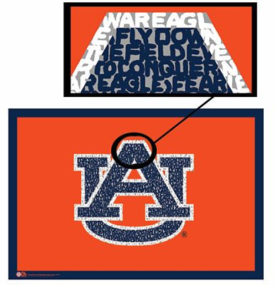 cute poster of Auburn fight song