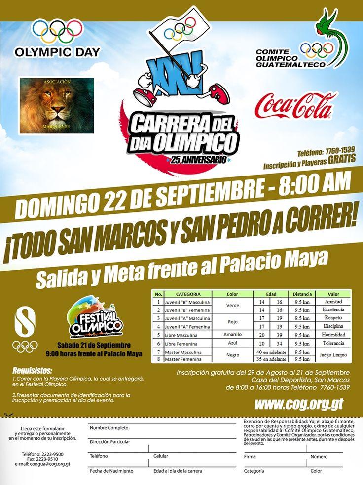 TODO SAN MARCOS Y SAN PEDRO A CORRER este 22 de septiembre a las 8:00 am