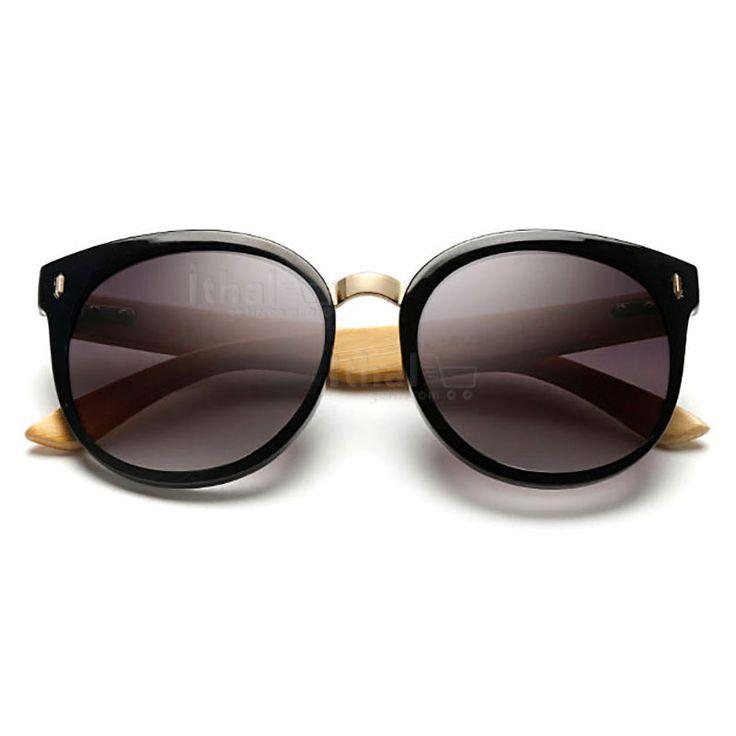 UV400 Korumalı, Gerçek Ahşap Güneş Gözlükleri - IGD090613437 - Vintage Güneş Gözlükleri, Ayna Camlı Güneş Gözlükleri, Bambu Güneş Gözlükleri