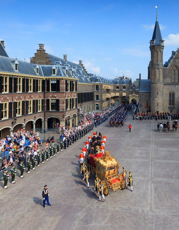 Prinsjesdag (Little Princes' Day) is the day on which the reigning monarch of the King of the Netherlands (currently King Willem-Alexander) addresses a joint session of the Dutch Senate and House of Representatives in the Hall of Knights (Dutch: Ridderzaal) in The Hague. Opening day of the Dutch parliament / Budget Day held each year on the 3rd Tuesday in September