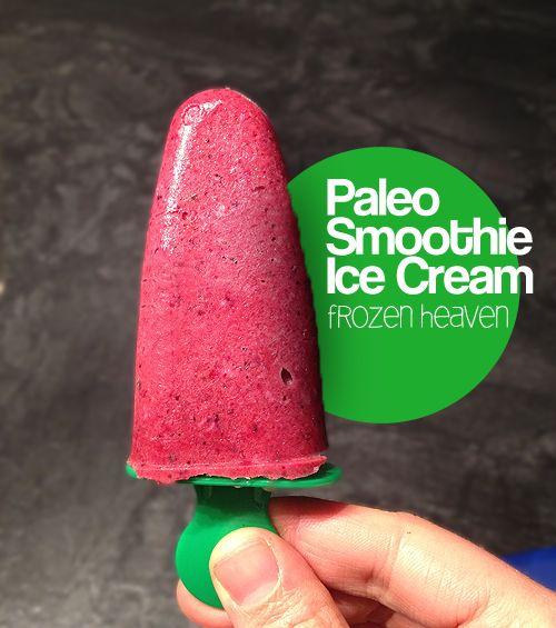 Paleo Smoothie Ice Cream, frozen heaven