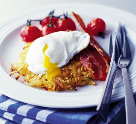 These crispy hash browns can be made ahead and reheated from frozen - ideal for unexpected Christmas visitors