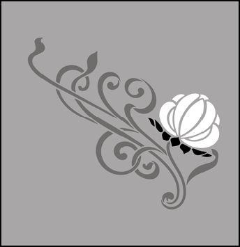 Art Nouveau Motif No 82 stencils, stensils and stencles