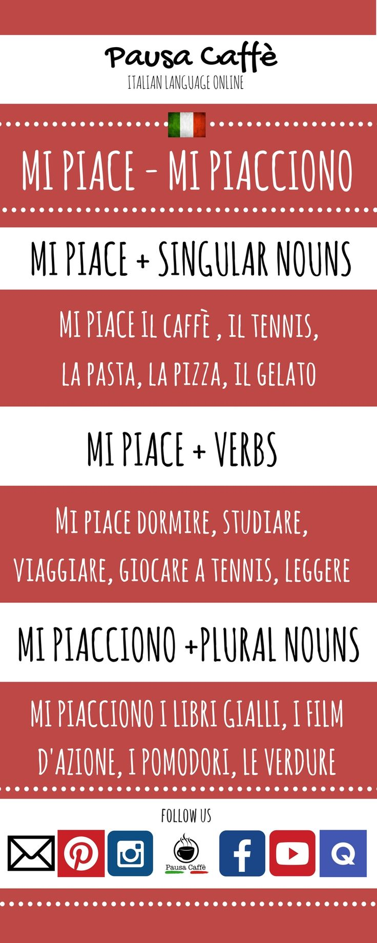 "The verb 'PIACERE' allows you to express what you like in Italian. but it is a tricky verb because it really means "" to be pleasing to"". Learn how to use it properly with our examples!"