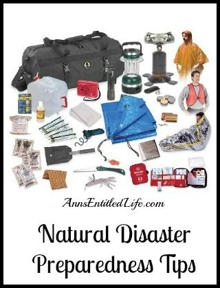 Natural Disaster Preparedness Tips - tips to keep you warm and safe when a natural disaster strikes. http://www.annsentitledlife.com/library-reading/natural-disaster-preparedness-tips/