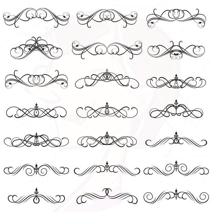 Caligraphic designs
