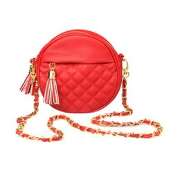 Urban Expressions Red Designer Inspired Circle Quilted Fashion Handbag $42.00