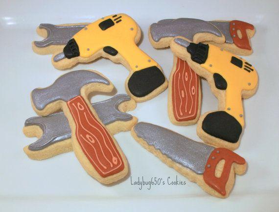 12 Tool cookies handmade & iced by ladybug650 on Etsy, $32.00