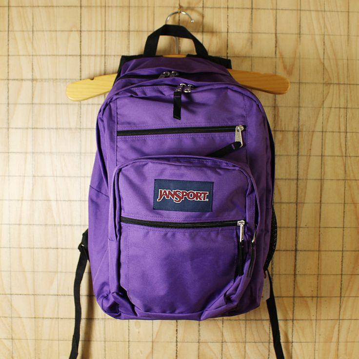 JANSPORT/USED/パープル・紫/ビッグステューデント/ナイロンキャンバスリュックサック・デイパック/bar37