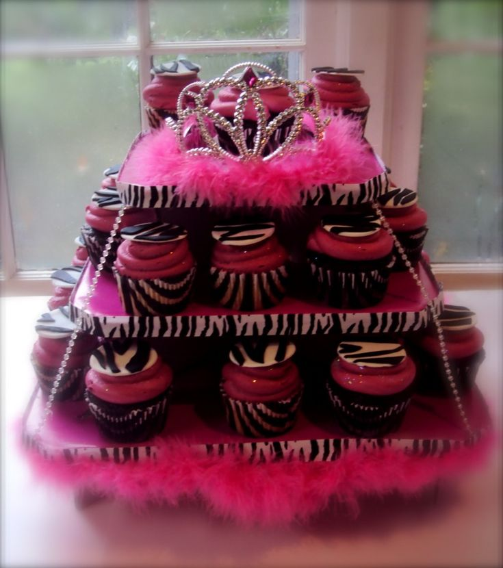 a little bit over the top but she would love: Divas Cupcake, Birthday Cupcake, Cupcake Stands, Bachelorette Parties, Birthday Parties, Two Parties, Parties Ideas Kids, Kids Birthday Cakes, Cupcake Towers