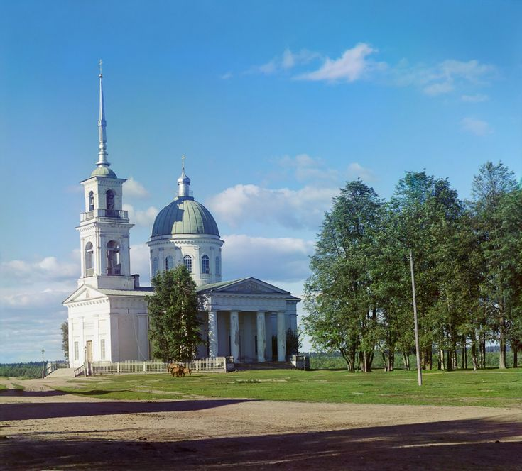 С. М. Прокудин-Горский. Собор во имя Св. Ап. Петра и Павла  в г. Лод. Поле 1916 год