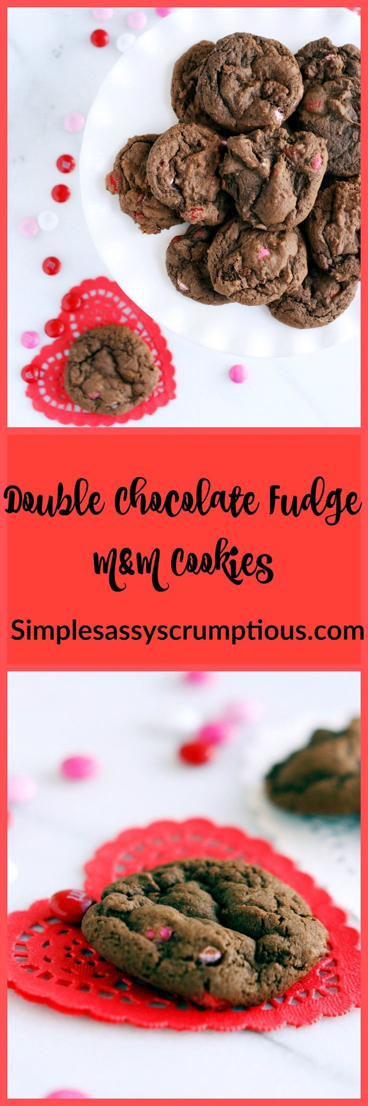 If there is one food item that I absolutely can not live without it is chocolate!  This recipe is definitely for CHOCOLATE LOVERS!!!  It's Valentine's Day is this week and the stores are flooded with an obscene amount of candy.  I found these cute Valentine's Day colored M&M's and knew I had to bake something …