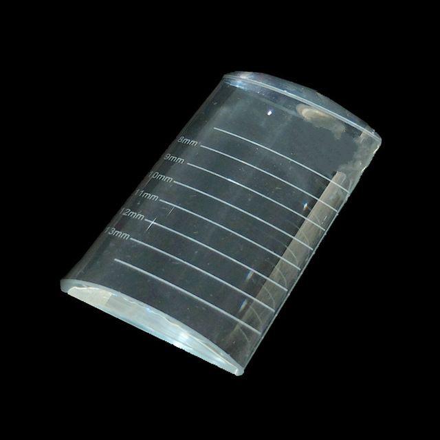 CM size printing Wimper Extension tool U-vorm Kristalglas Lijm Lijm Pallet Crystal Stone voor Wimpers Extension