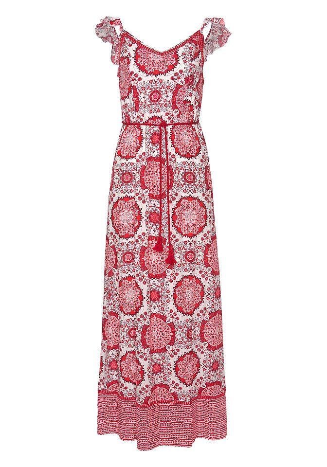 Only Damen Kleid Maxi Kurzarm Sommerkleid elegant