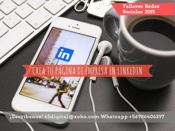 Únete a nuestro taller de Linkedin para empresas y emprendedores. Aprende a armar tu perfil profesional y tu página de empresa en Linkedin. Este taller es 100% práctico. ¡Escríbenos y entérate de los requisitos! 65digital@zoho.com  #Linkedin   #socialmedia   #Chile   #65Digital   #talleresderedessociales