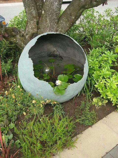 17 best images about concrete a palooza on pinterest for Concrete garden pond