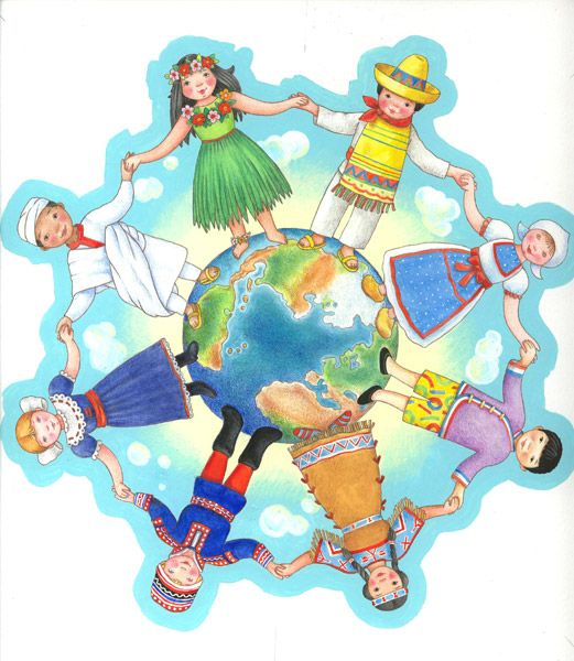 children singing around the world | ... around the world, everybody's singing, every boy and every girl