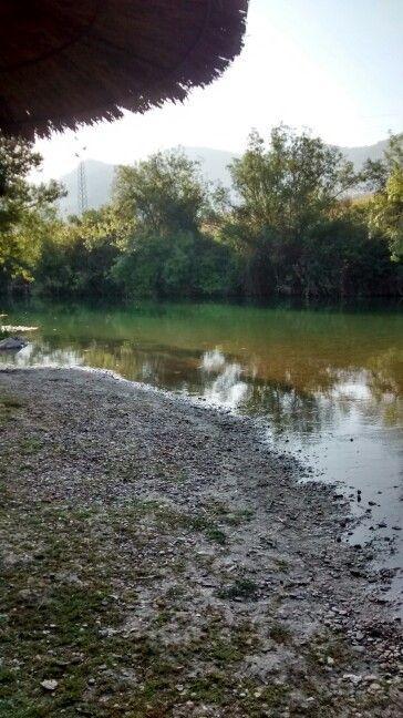 Y después del paseo un baño en la playa del río Guadiaro.