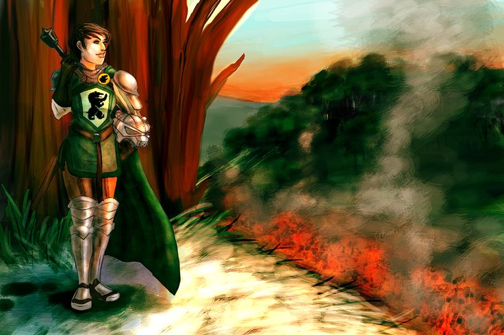 Dacey Mormont Overlooking the Stark Encampment by Haganegirl.deviantart.com on @deviantART