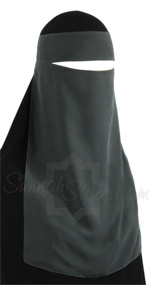 1 piece niqaab grey Sunnahstyle