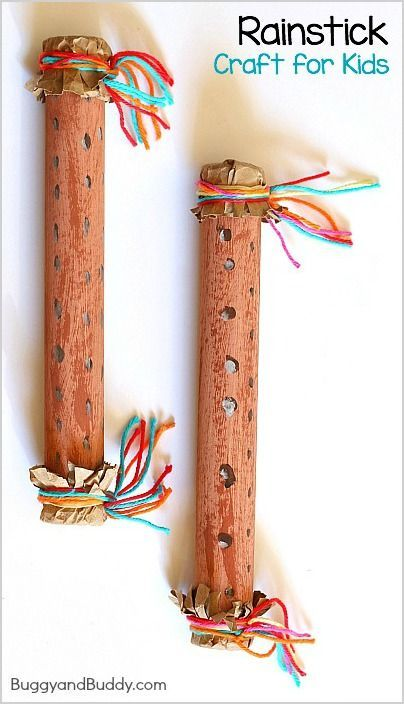 Rainstick Craft and science activity for Kids - Explore sound with a homemade instrument! ~ BuggyandBuddy.com
