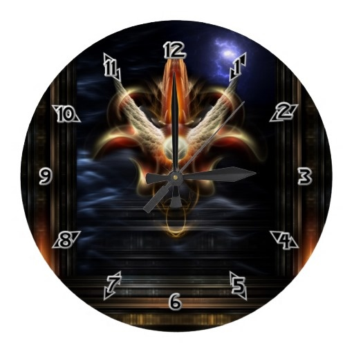 Akrellian Torch Fire Portrait Fractal Art Wall Clock $28.10 - Click Here http://xzendor7.com/xzendor7-wall+clocks.php
