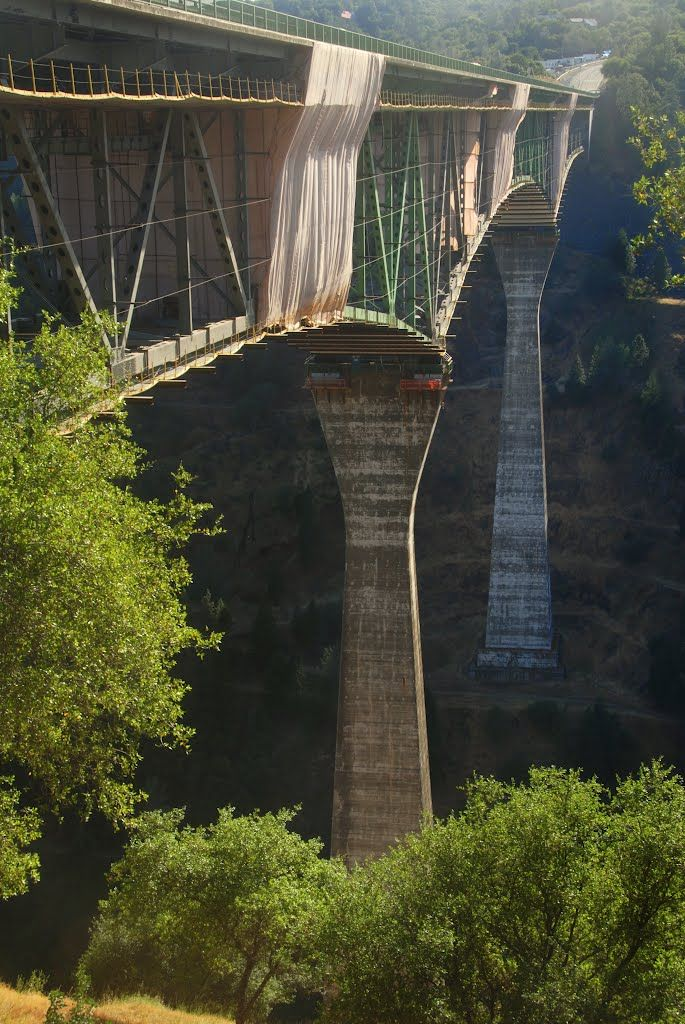 Foresthill Bridge, Tallest bridge in California (730ft), Auburn, California