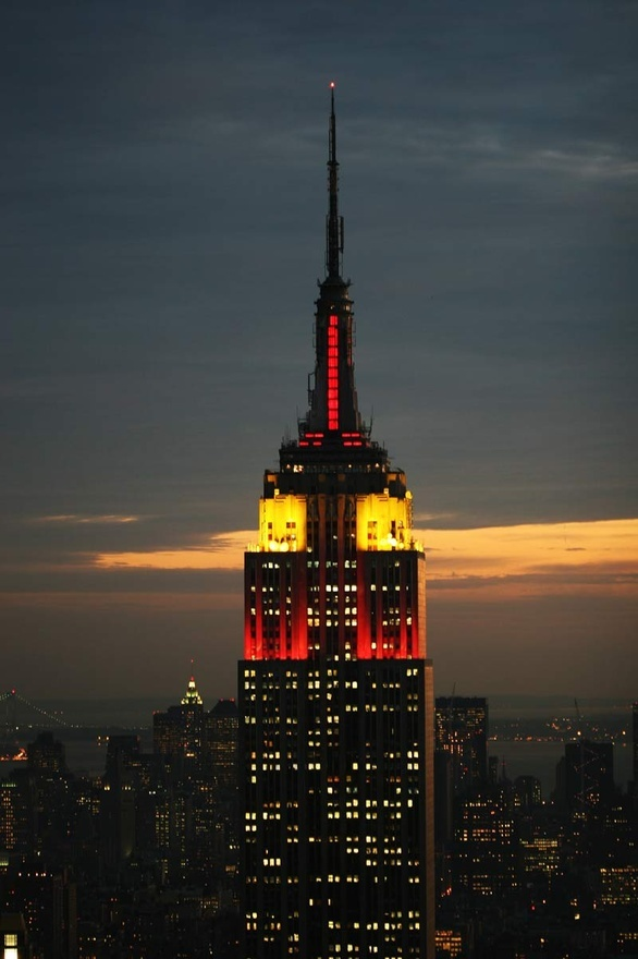 empire state building valentine's day heart