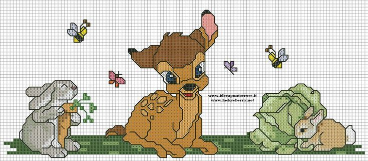 BAMBI DISNEY PUNTO CROCE-CROSS STITCH by syra1974.deviantart.com on @deviantART