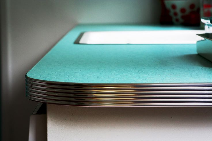 The Edge Of Many Early 50s Counters Were Metal Rimmed Like This Curved Formica Took Awhile To
