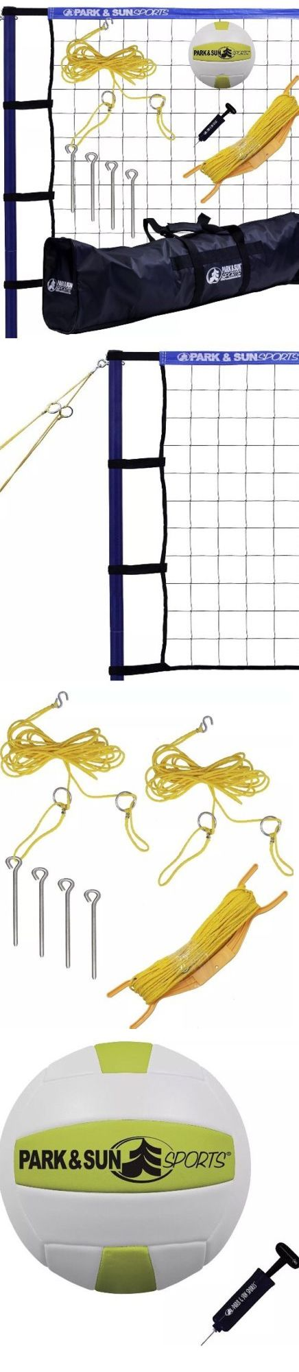 Nets 159131: Park And Sun Sports Portable Outdoor Volleyball Net System: Spiker Sport, Blue > -> BUY IT NOW ONLY: $140.8 on eBay!