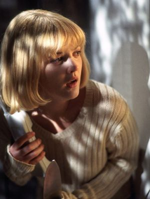 Oh Drew Barymore! Don't get me wrong I love the scream movies but right off the bat it gives the impression of Drew being a dumb blonde, who keeps picking up the phone when a serial killer is talking from the other end?