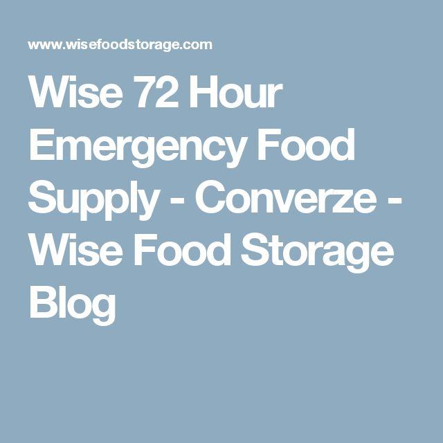 Wise 72 Hour Emergency Food Supply - Converze - Wise Food Storage Blog