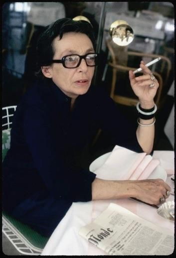 Marguerite Duras-this is the first pic I've ever seen of her. I love her book The Lover