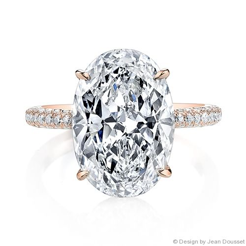 Superb CHELSEA is a custom traditionally handcrafted Jean Dousset Diamonds signature diamond engagement ring design