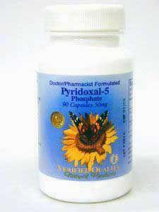 Verified Quality- Pyridoxal-5 Phosphate 50 mg 90 caps
