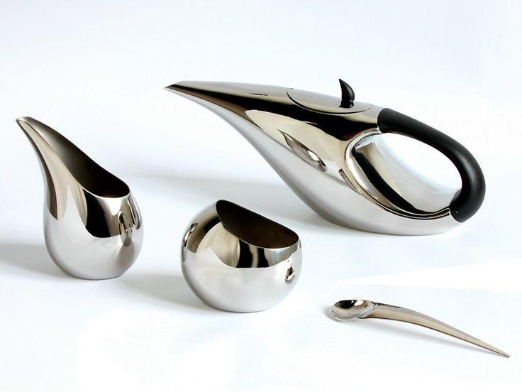Juego de té de acero inoxidable MORPHE by OPOSSUM Design