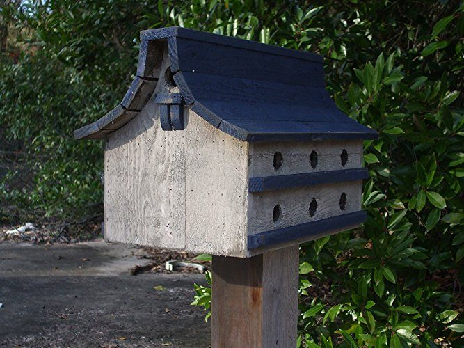 Purple Martin bird house, Navy Blue and white bird house, distressed bird house, rustic bird house, large bird house, Bird House,