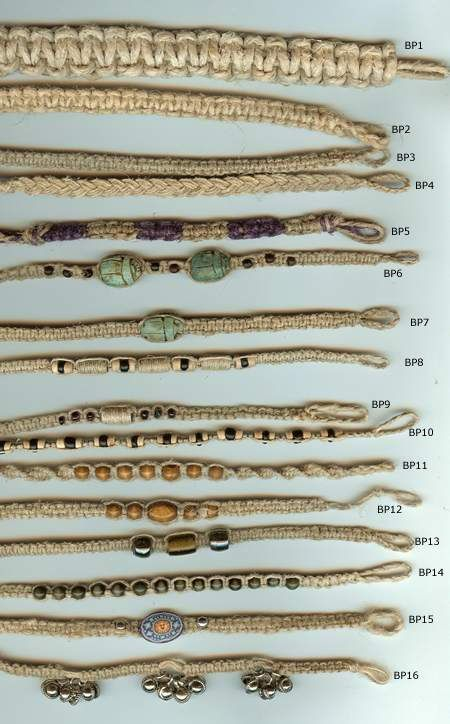 JewelryVilla hemp anklets and bracelets, hemp jewelry, teen jewelry