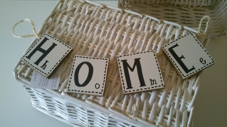 Handmade Wooden Small Home Bunting by Katie Do Little Handmade Home & Giftware, £6.99