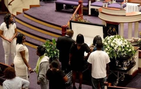 Keith Lamont Scott was buried Friday in James Island, SC, near Charleston. His shooting renewed debate in the city over how minorities are treated by police both in Charlotte and around the country.