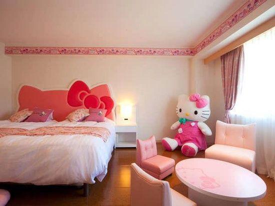 Desain Kamar Tidur Hello Kitty Cantik Terbaru