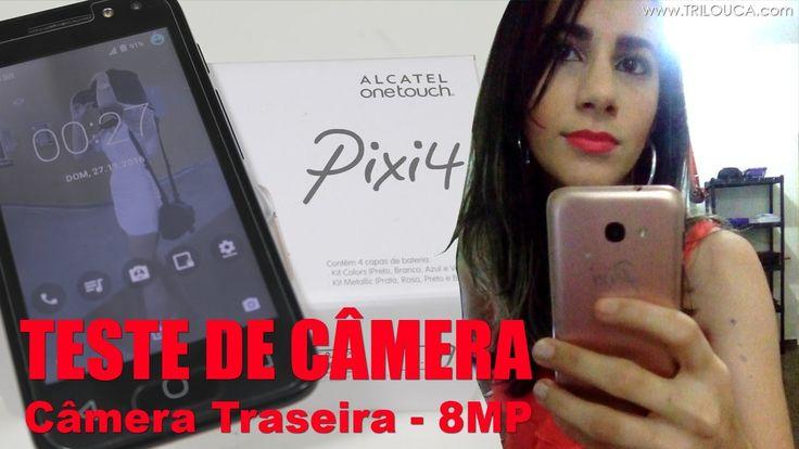 """📱 Teste de câmera: Alcatel Pixi 4 (4"""") - Câmera Traseira 8mp 😍❤"""