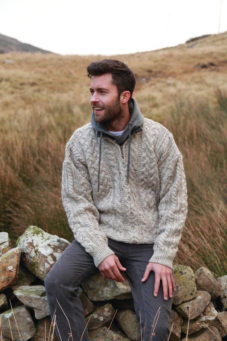 Pair an Irish sweater with a hoodie on those cold winter days to come for instant warmth! Follow this link for the perfect sweater?http://bit.ly/2x0NHvI