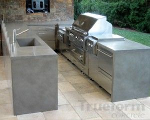 concrete outdoor kitchen ultimate backyard